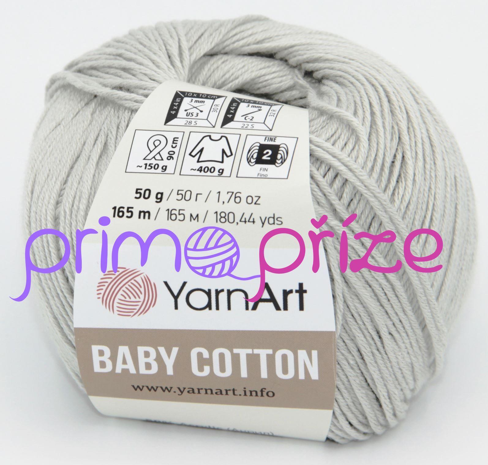 YarnArt Baby Cotton 451 světle šedá