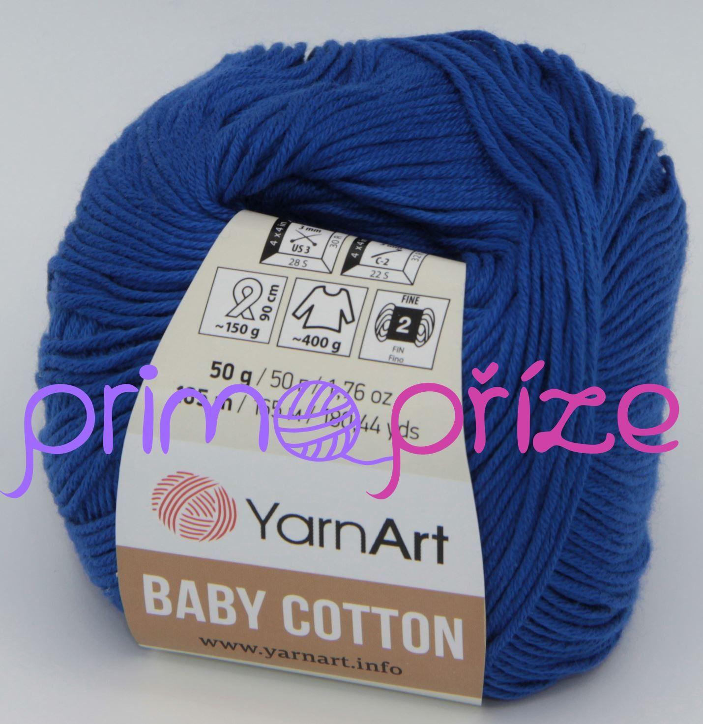 YarnArt Baby Cotton 456 modrá
