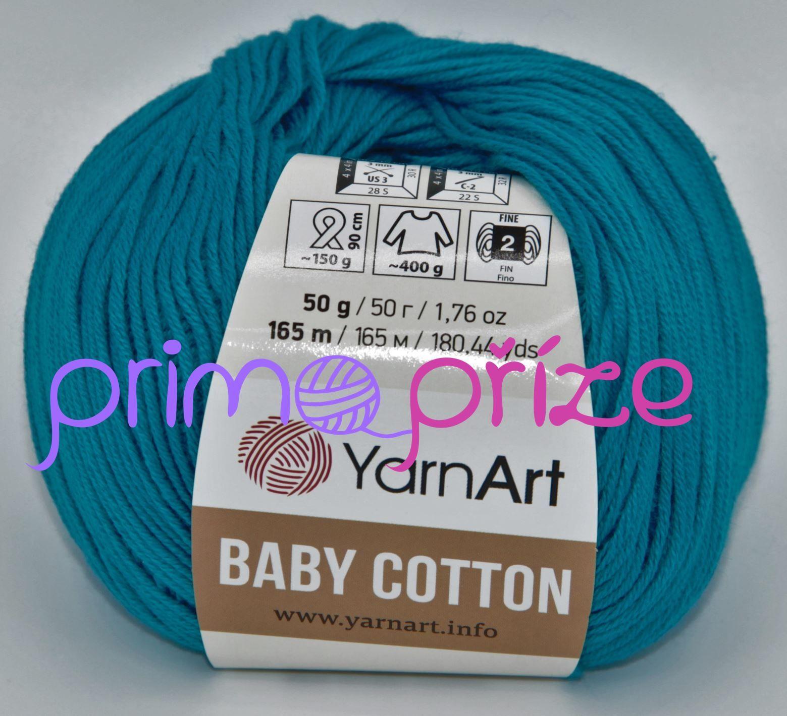 YarnArt Baby Cotton 458 tyrkysová