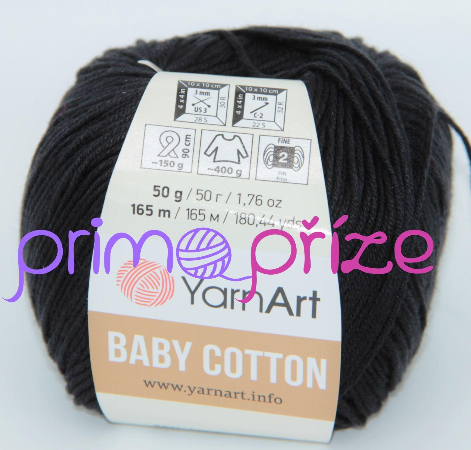 YarnArt Baby Cotton 460 černá