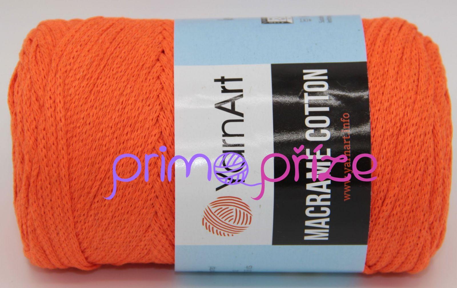 YarnArt Macrame Cotton 800 neonově oranžová