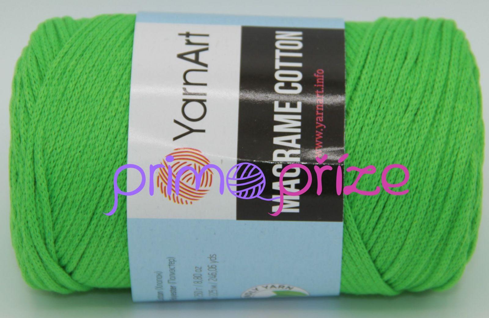 YarnArt Macrame Cotton 802 neonově zelená