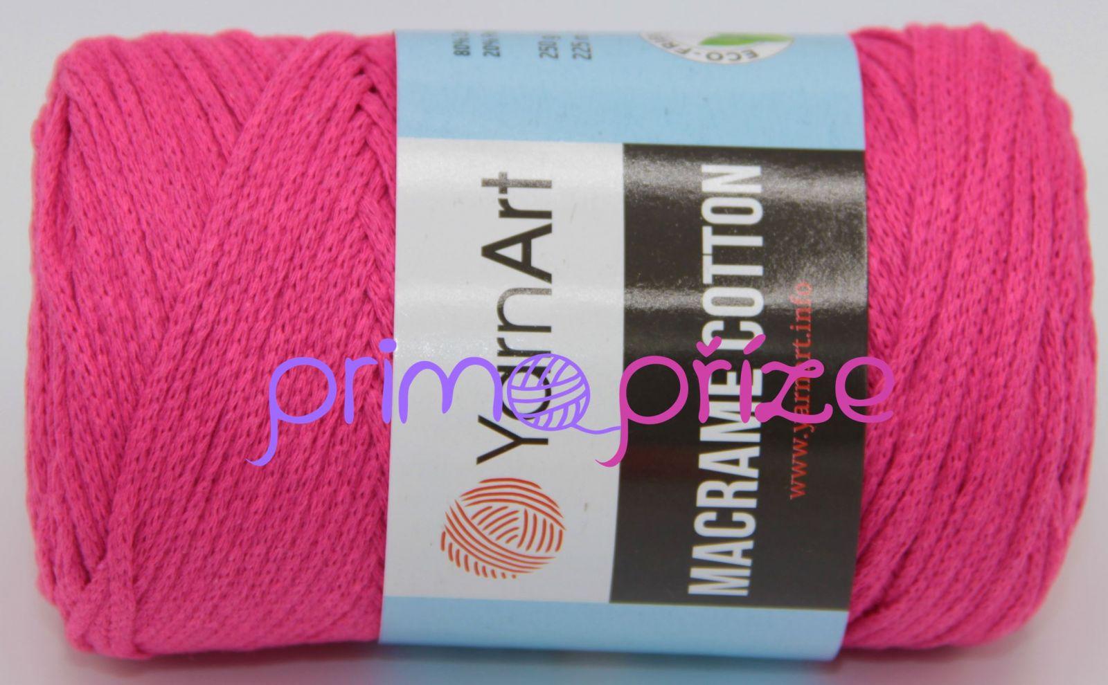 YarnArt Macrame Cotton 803 neonově růžová