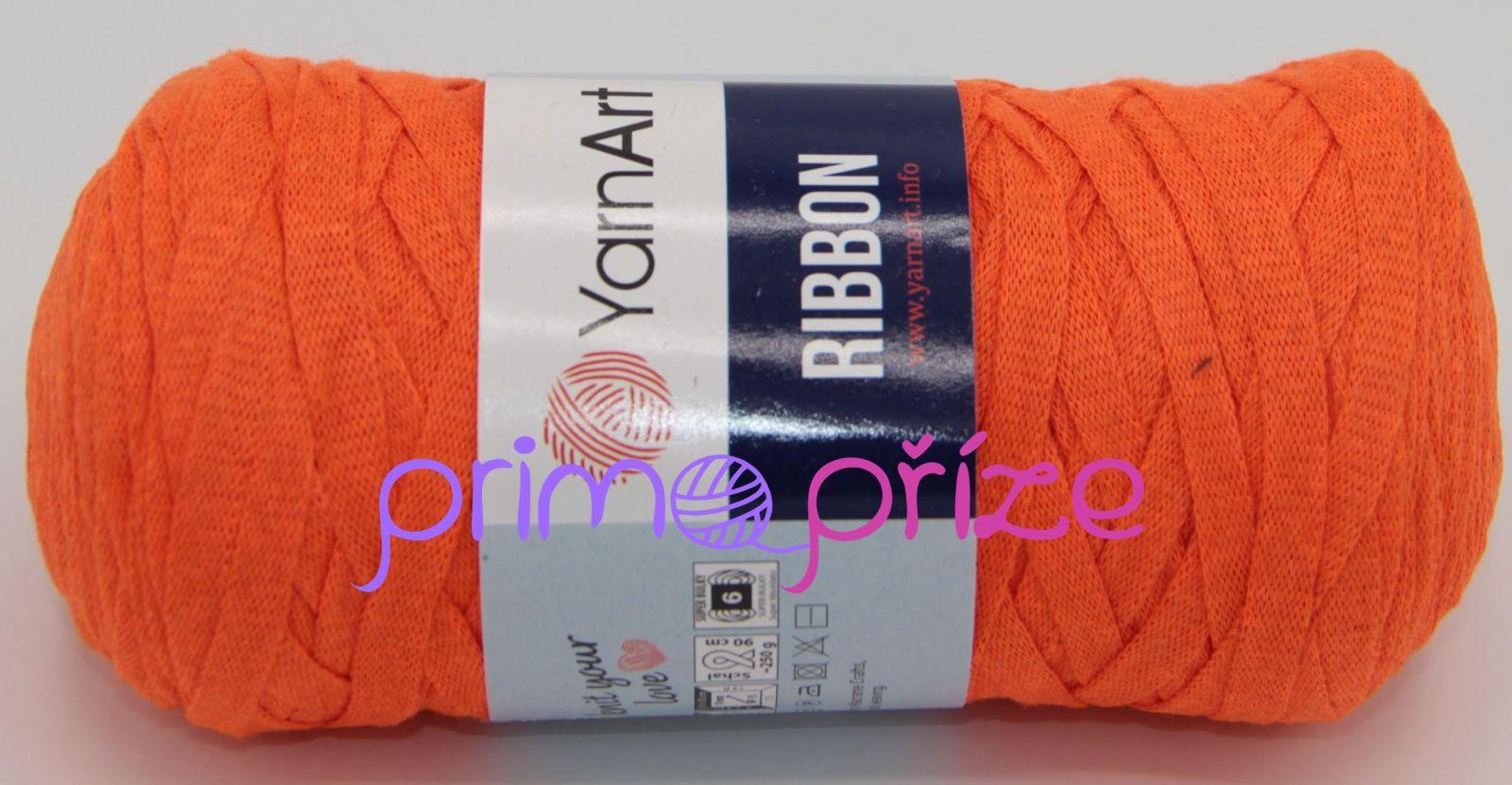 YarnArt Ribbon 800 neonově oranžová