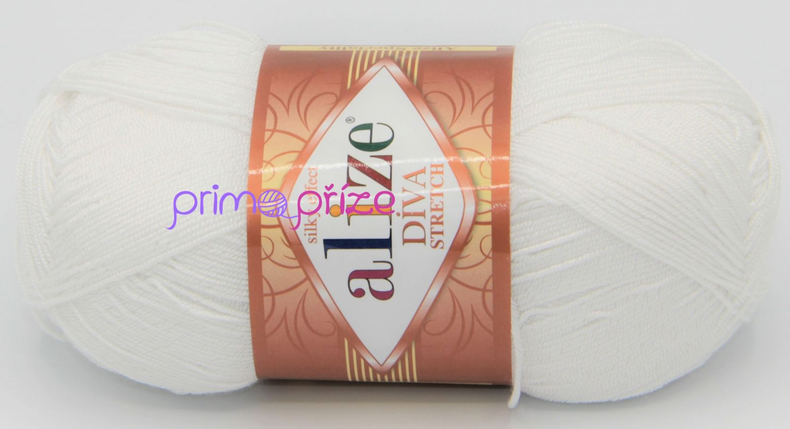 ALIZE Diva Stretch 055 bílá