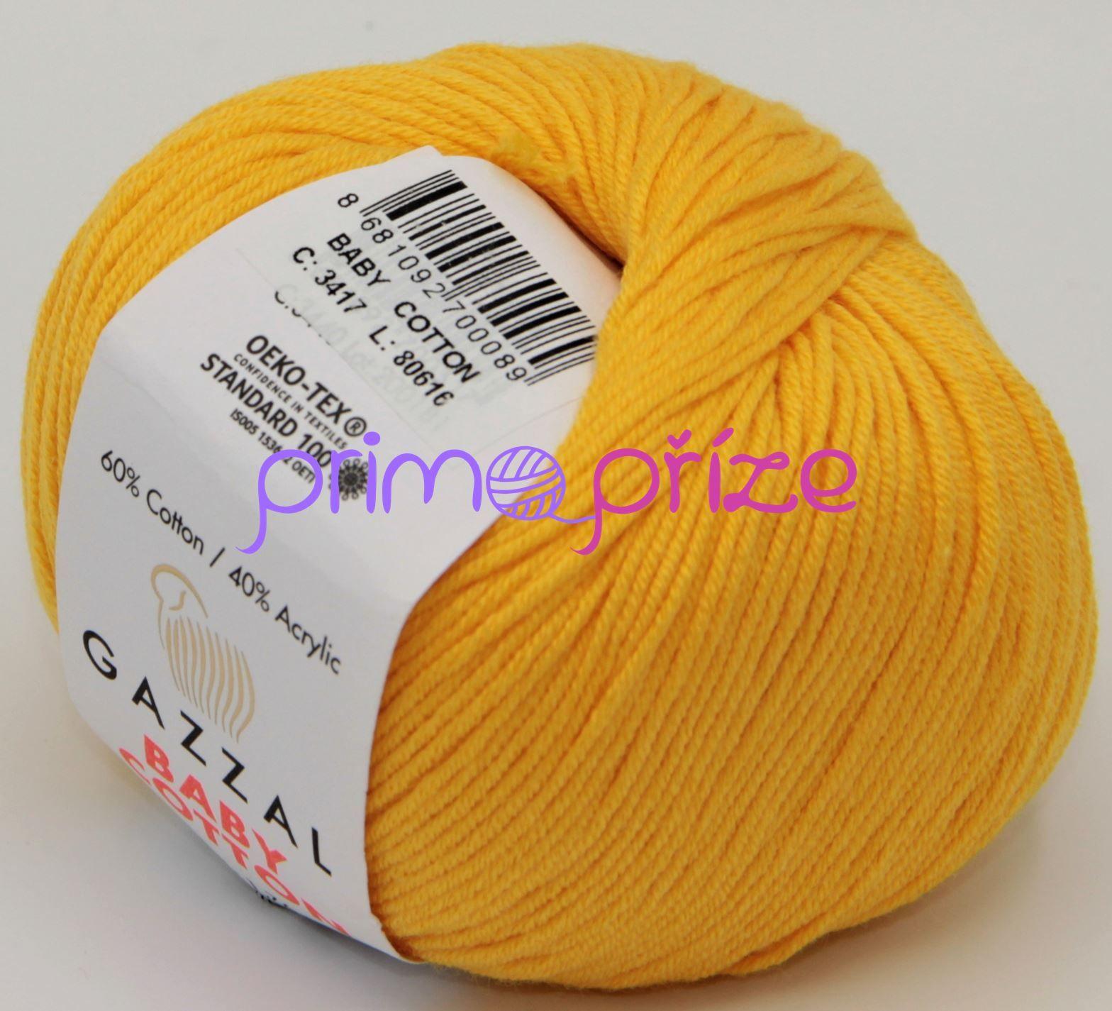 GAZZAL Baby Cotton 3417 zlatožlutá