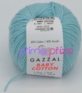 GAZZAL Baby Cotton 3451 světle tyrkysová