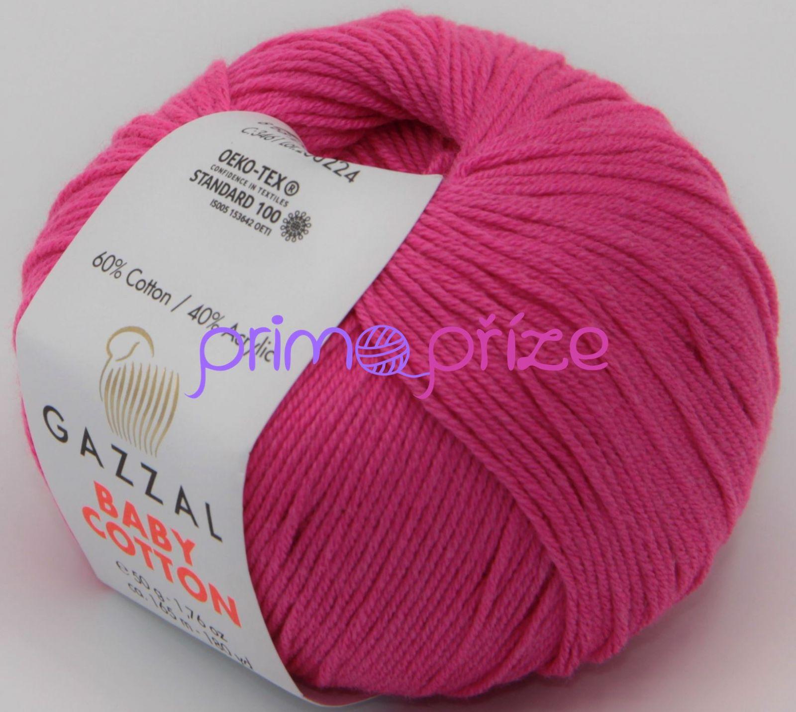 GAZZAL Baby Cotton 3461 sytá růžoáv