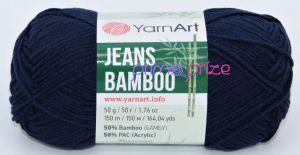 YarnArt Jeans Bamboo 125 tmavě modrá