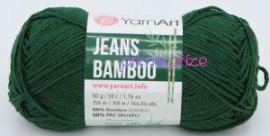 YarnArt Jeans Bamboo 139 tmavě zelená