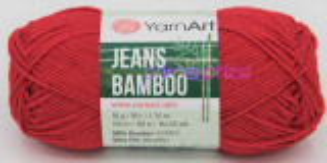 YarnArt Jeans Bamboo 144 červená