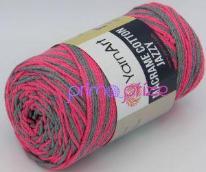 YarnArt Macrame Cotton Jazzy 1201 růžová+šedá